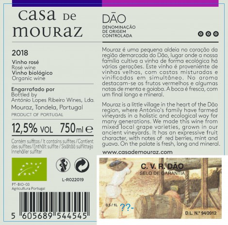 Rose Casa de Mouraz 2018 Bio