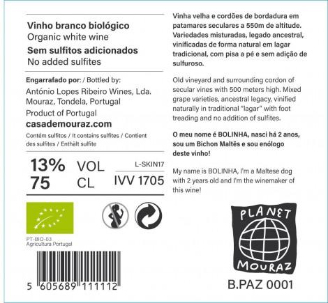 Branco Bolinha So2 Free 2017- Planeta Mouraz sem sulfitos adicionados