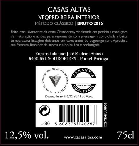 Espumante Casas Altas 2018
