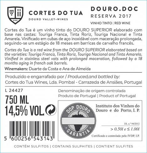 Tinto Cortes do Tua Reserva 2018