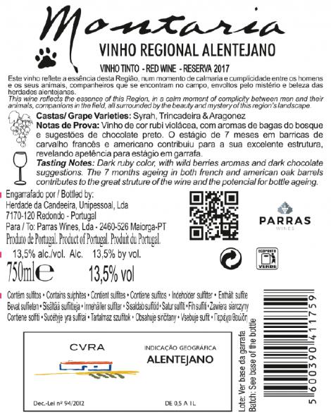 Tinto Montaria Reserva 2017