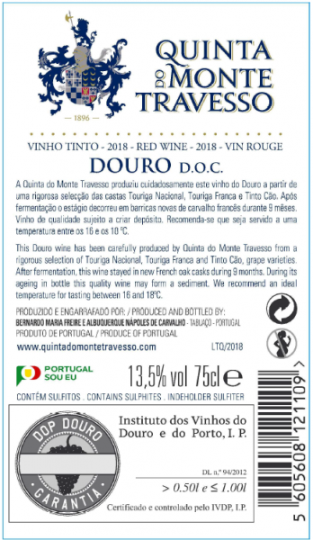 Tinto Quinta do Monte Travesso 2017