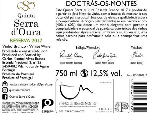 Branco Quinta Serra D´Oura Reserva 2017