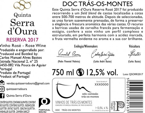 Tinto Quinta Serra D´Oura Reserva 2016