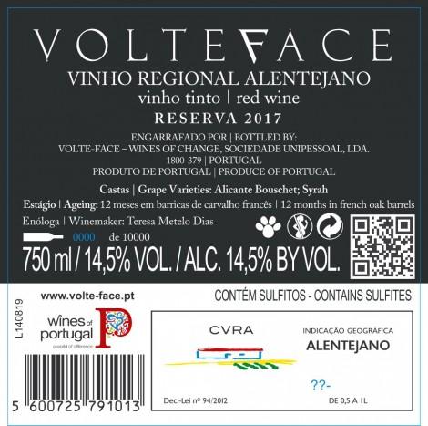 Tinto Volteface Reserva 2017